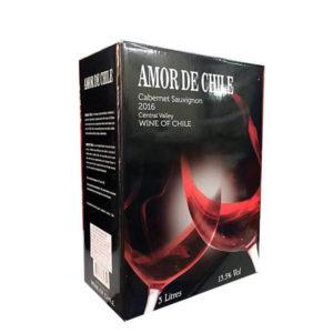 Rượu vang bịch amor de chile