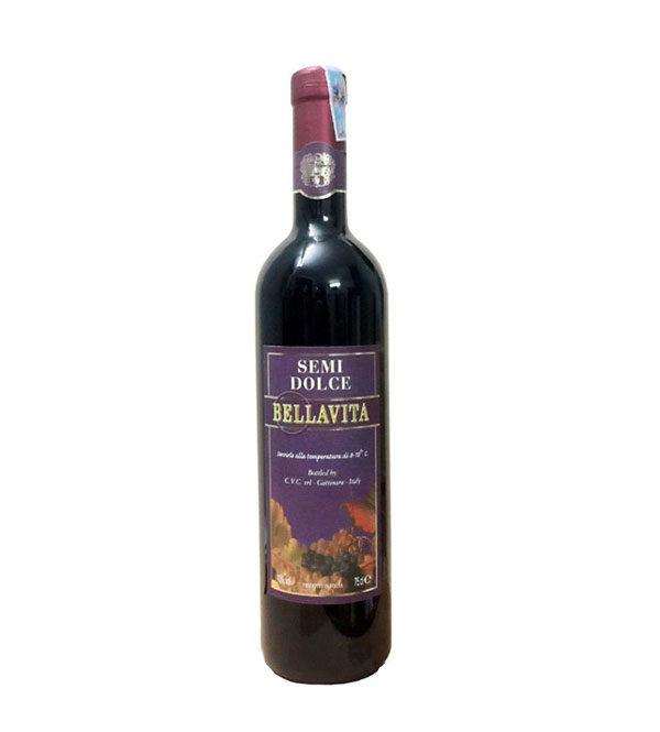 Rượu vang đỏ ngọt ý Bellavita